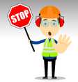Safety Worker vector image vector image
