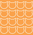 seamless pattern with cat heads vector image vector image