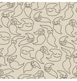 Seamless pattern with cute cartoon ghosts vector image