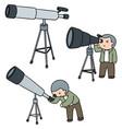 set of telescope vector image vector image