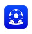 soccer ball icon digital blue vector image vector image