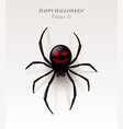 spider with a pattern on abdomen in form vector image vector image