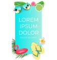 Summer abstract instagram stories banner