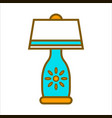 table lamp graphic close up colorful vector image vector image