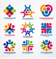 teamwork and friendship concepts created with vector image vector image