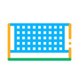 tennis court net icon outline vector image vector image