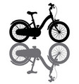 the black silhouette of a bicycle vector image vector image