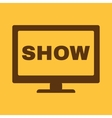 The tv show icon Television and telly vector image