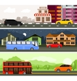 Transport for city and travel vector image vector image