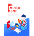unemployment and crisis - modern colorful vector image