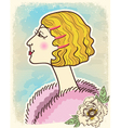Vintage fashion woman vector image