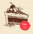 Vintage sweet cake background with color bubble vector image vector image