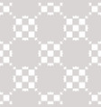 white and gray geometric checkered seamless vector image vector image