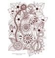 zentangl card with flowers vector image vector image