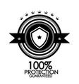 Black retro vintage label tag badge protection vector image