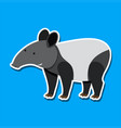 a tapir sticker character vector image vector image