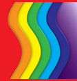 abstract background with rainbow curve vector image