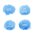 Abstract Watercolor Splash with a Message vector image vector image