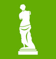 ancient statue icon green vector image