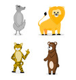 animal cartoon set vector image