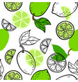 beautiful green black and white seamless doodle vector image vector image
