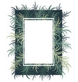 botanical card with palm leaves image vector image vector image