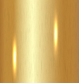 Brushed Gold Background vector image vector image