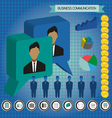 Business communication infographic with icons pers vector image vector image