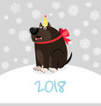 china zodiac dog happy new card vector image vector image