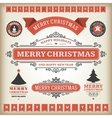 Christmas decoration design elements collec vector image
