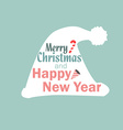 Christmas hat new year vector image vector image