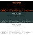 cincinnati event banner hand drawn skyline vector image vector image