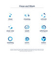 clean and wash creative symbols set font concept vector image vector image