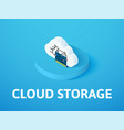cloud storage isometric icon isolated on color vector image vector image