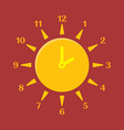 Combined clock and sun Summer time concept vector image