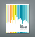 Cover Annual report silhouette building colorful vector image vector image