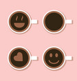 cup coffee view from above vector image vector image
