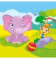 Cute Elephant And Monkey vector image vector image