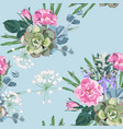 delicate pattern dog roses flowers vector image vector image