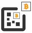 digital bitcoin flat icon vector image