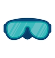 diving glasses isolated icon vector image