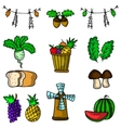 Doodle of thanksgiving fruit set vector image vector image