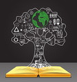 ecology in tree vector image