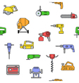 electric power tools seamless pattern vector image vector image