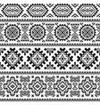 Ethnic seamless monochrome pattern