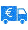 Euro Car Grainy Texture Icon vector image