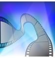 Film strip in rays of searchlights vector image vector image