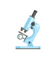 flat of optical laboratory microscope in vector image vector image