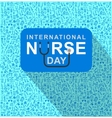 for International Nurse Day vector image vector image