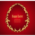 Frame barocco easter red vector image vector image